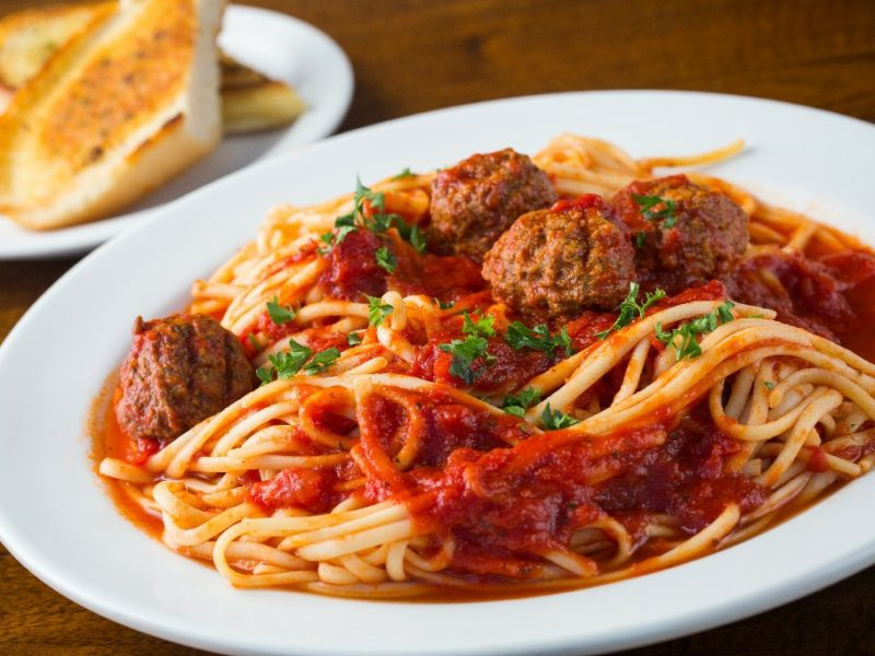 spaghetti meat balls
